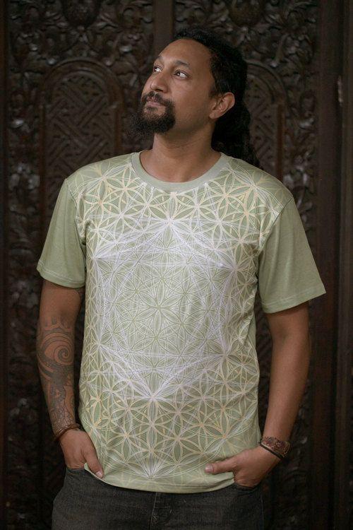 Blooming Sage  Men's cotton T-shirt // by CrystalotusCreations