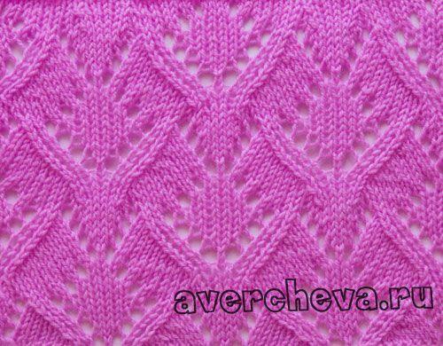 Charted lace stitch