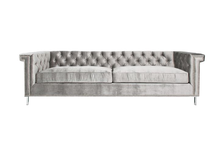 Our Sinatra Sofa is as suave as they come. Its classic features are contrasted by the luxurious Brussels Silver Velvet. This variation of the Sinatra is ideal for the cutting edge individual and featu