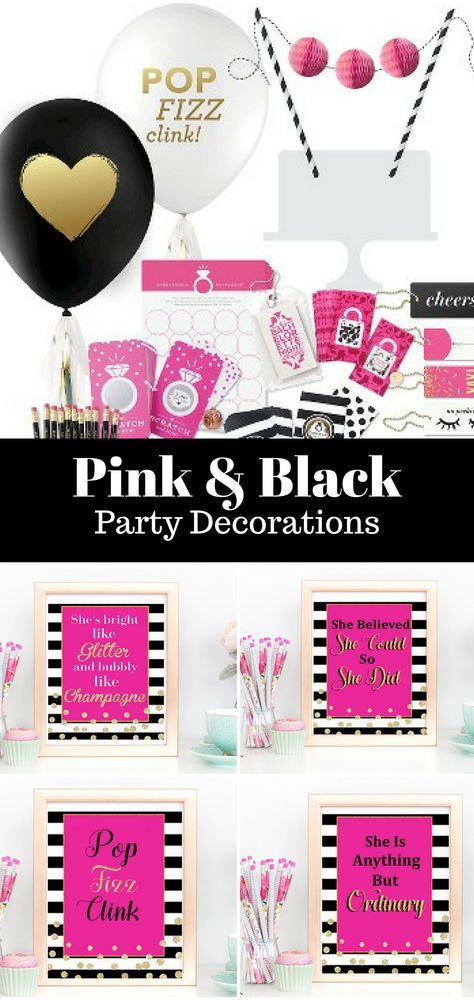 adult birthday ideas, adult birthday party, pink birthday party, pink party  ideas, party pink, pretty in pink party, pretty in pink party ideas, ...