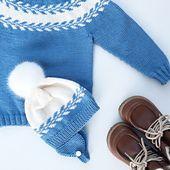 Winter Buds Sweater, paid knit pattern via Ravelry