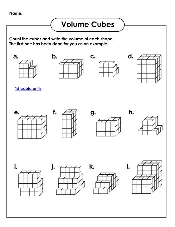 Math Worksheets For Kids Volume Math Kids Math Worksheets Volume Worksheets