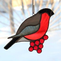 Lintu tiffany lasityö | Taitaentehty | Punatulkku - Bullfinch | Pinterest | Bullfinch