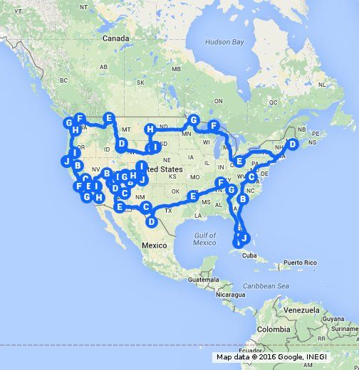 An Optimal Road Trip Of All The National Parks In The Continuous United States Made