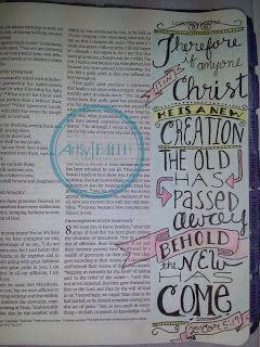 Artsy Faith | 2 Corinthians 5:17 #BibleArtJournaling #ScriptureArt #IllustratedFaith #FaithArt