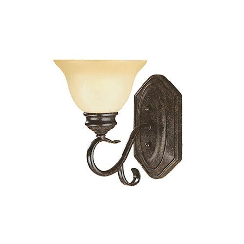 Devonshire Burnished Gold One-Light Sconce with Florentine Scavo Glass
