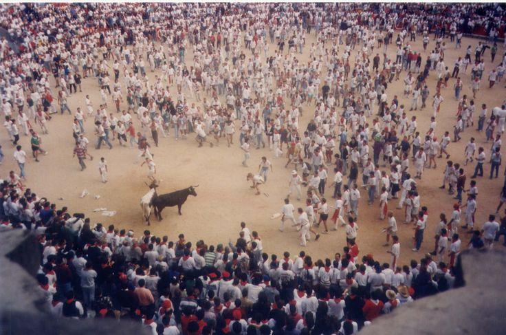 Bull fight unfair - Pamplona