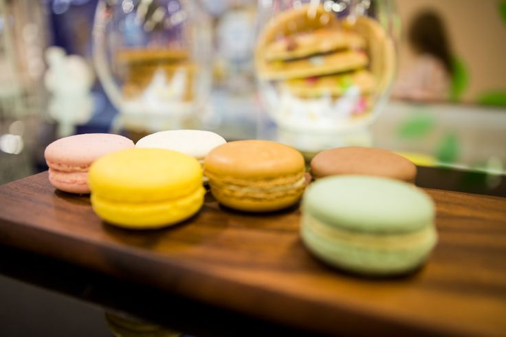 Assorted macarons from Essence Café