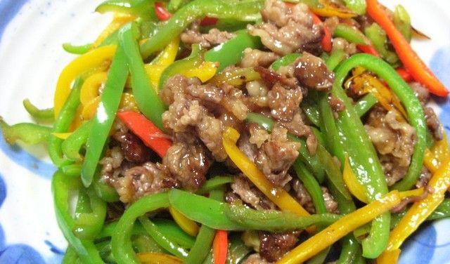 台湾家庭料理♪ピーマン&牛肉の炒めもの♪