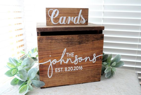 **CURRENT TURNAROUND TIME IS 4-6 WEEKS BEFORE SHIPMENT!**   This beautiful wooden card box/keepsake trunk is the perfect addition to any