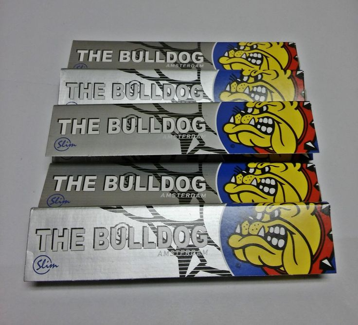 Bulldog Amsterdam Silver King Size Rolling Papers - Lot Of 5 Packs