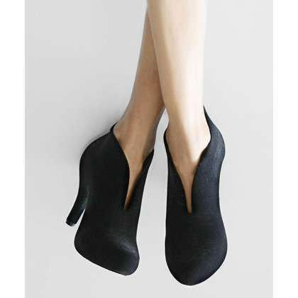 Melissa Shoes | Black Flocked Ashanti Bootie | Perfect. I want them!