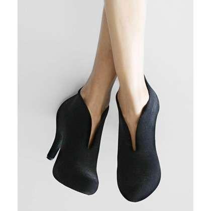 Melissa Shoes | Black Flocked Ashanti Bootie