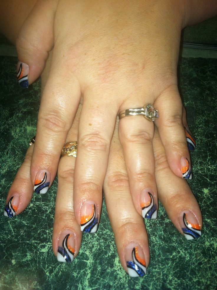 36 best denver broncos nail art images on Pinterest ...
