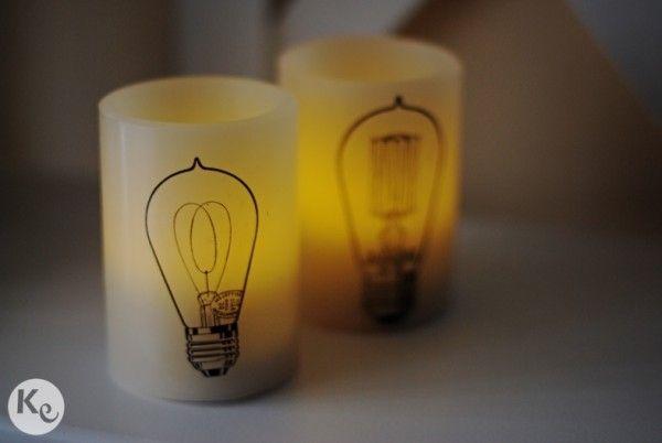 DIY #173. Decorando velas con papel para tatuajes temporales/ Decorating candles with temporary tattoo paper