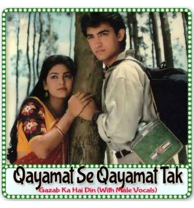 http://hindisongskaraoke.com/all-karaoke/3821-gazab-ka-hai-din-with-male-vocals-qayamat-se-qayamat-tak-mp3-format.html  High quality MP3 karaoke track Gazab Ka Hai Din (With Male Vocals) from Movie/Album Qayamat Se Qayamat Tak and is sung by Udit Narayan and composed by Anand-Milind