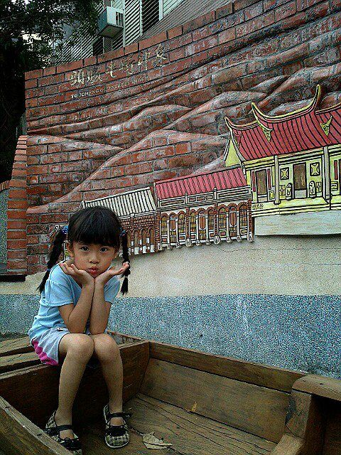My Daughter @ Toucheng Old Street, Taiwan, 2013.7.26