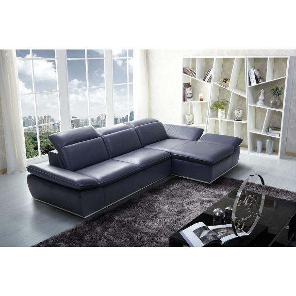 Cantu Leather Sectional Right Chaise Leather Sectional Sofas Leather Sectional Blue Leather Sofa