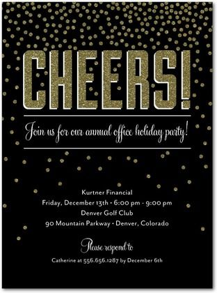 cheer party invitations