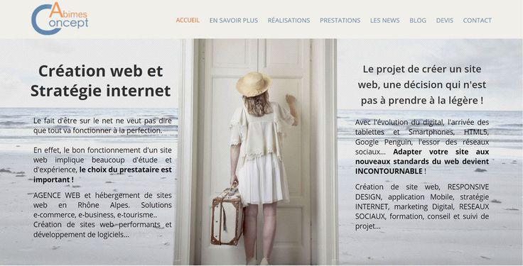 Le nouveau site Abimes Concept http://www.abime-concept.com