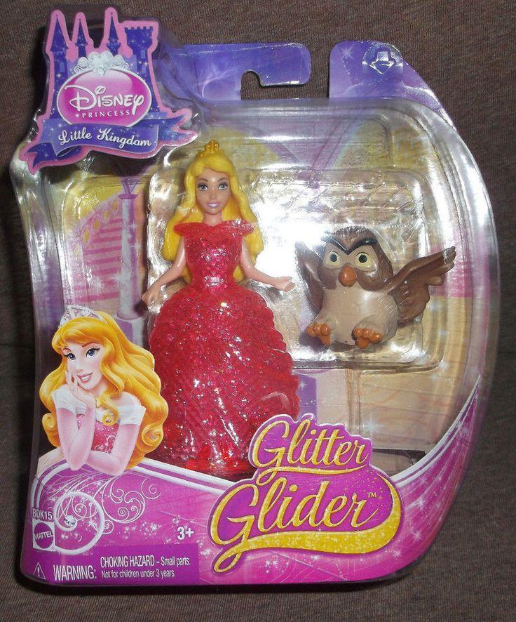 Disney Princess GLITTER GLIDER SLEEPING BEAUTY Magiclip Doll NEW! #Mattel