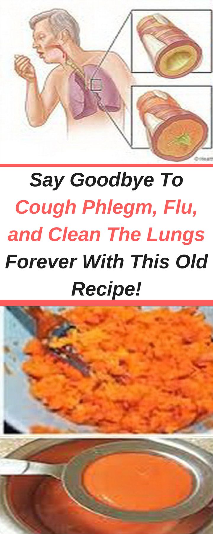 This recipe is extremely effective in treating excessive mucus and coughing. It contains only natural ingredients and has no side effects. It is perfectly safe for children and adults. You should use fresh carrots to make the juice in order to preserve the beneficial nutrients.  What Makes Carrots