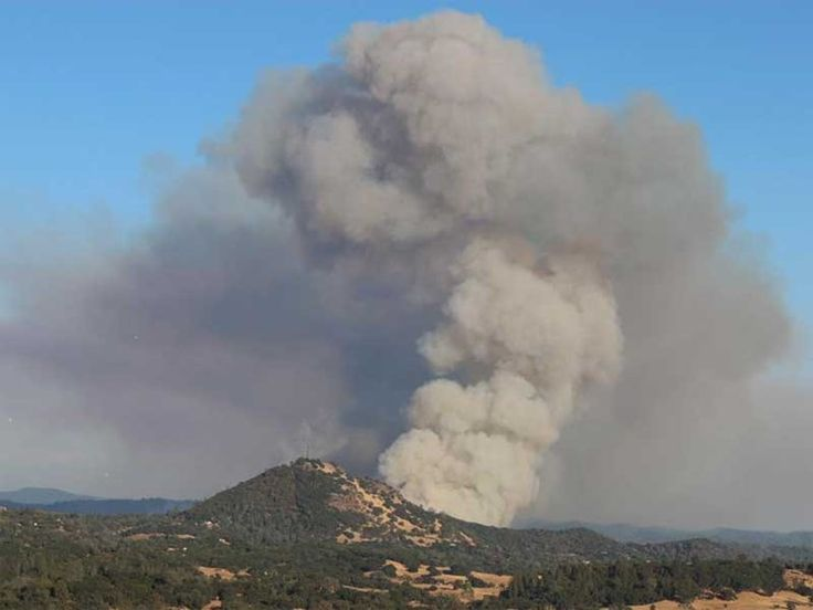 The Butte Fire, burning in Amador County near Jackson, as seen on Wednesday, Sept. 9, 2015.
