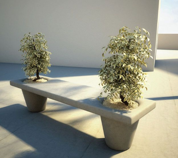 Lovely Public Bench / Contemporary / Concrete / With Integrated Planter MOLD By Em  Branco SIT URBAN Home Design Ideas