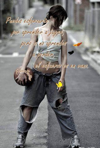 Puedes esforzarte por aprender - a jugar, pero si no aprendes a perder, el esfuerzo es en vano. °\ ,,,,, /°  .(◔␣◔)   <( ▓ )> ...╝╚ ♥
