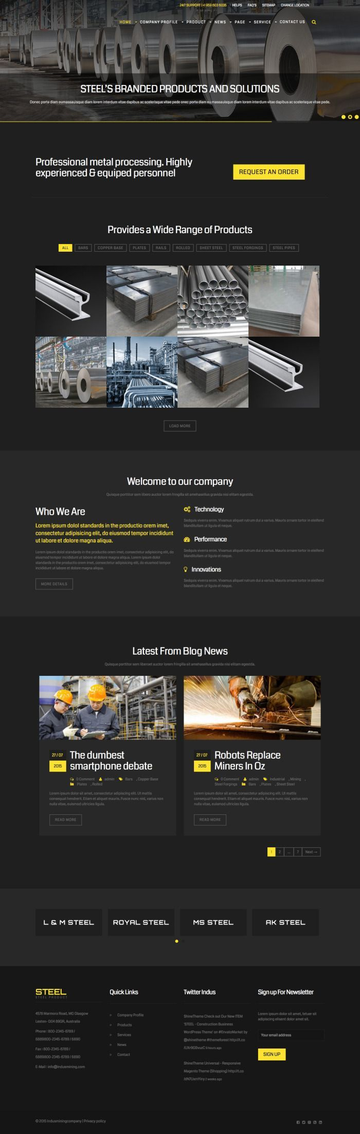 STEEL – Construction Business WordPress Theme