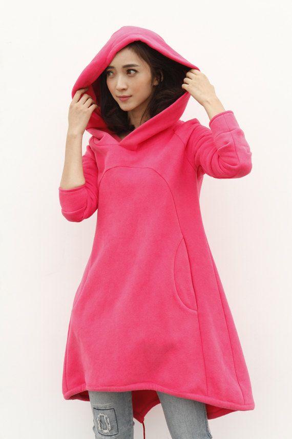 Camel Hoodie Sweatshirt Cotton Fleece Hoodie by Sophiaclothing