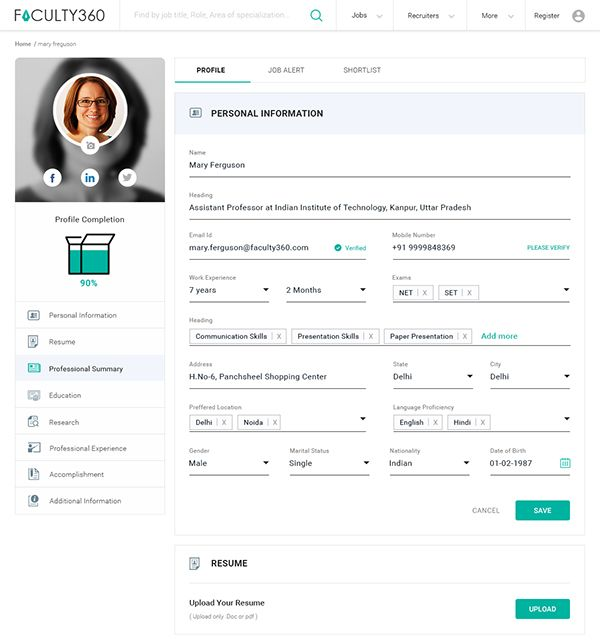 User Profile Interface Design By Mayur