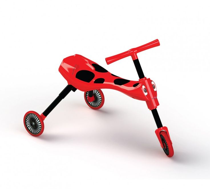 The Scuttlebug Ladybird in Red & Black a great toddler trike