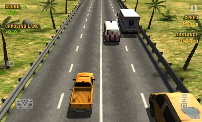 Traffic Racer : Drive through the traffic in this 3d racing game