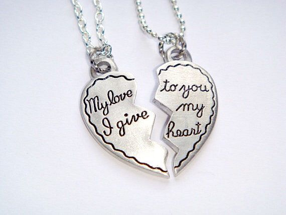 Couples Necklaces Gift For Boyfriend Girlfriend Gifts
