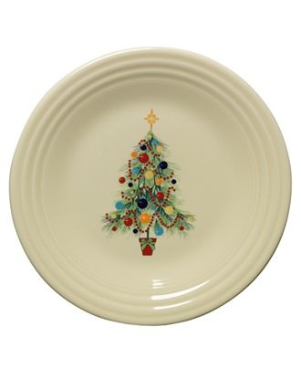 Fiesta ware - Christmas plate. I want this, but I think it's a NEED... :)