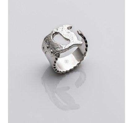Δαχτυλίδι πριόνι της TOOLS by xatziiordanou #ring #saw #silver #man