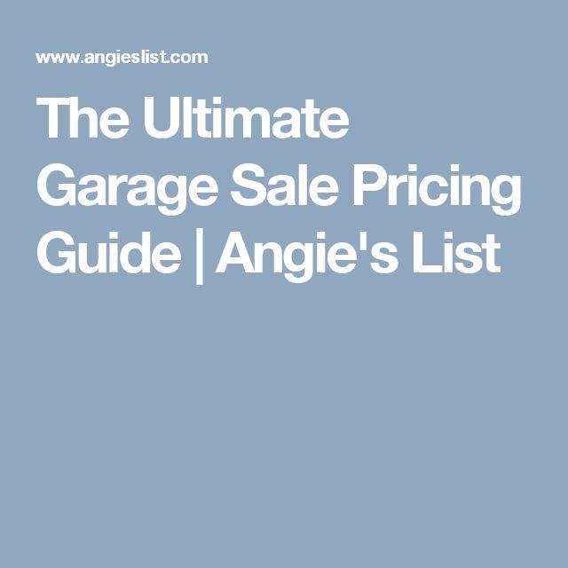 Best 25 Garage Sale Pricing Ideas On Pinterest Rummage
