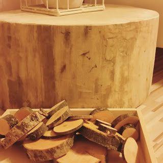Wood&Crafts - kreatywne malowanie: Malowany pniak