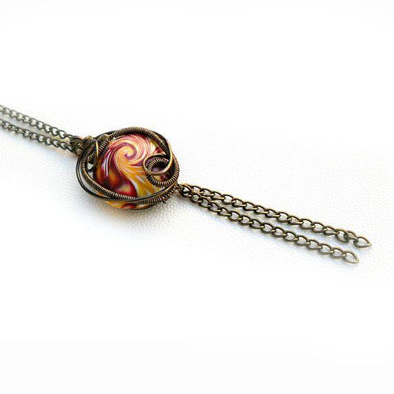 Ciondolo Wire Bonnie  Filo di rame in colorazione di archidee, €15.00
