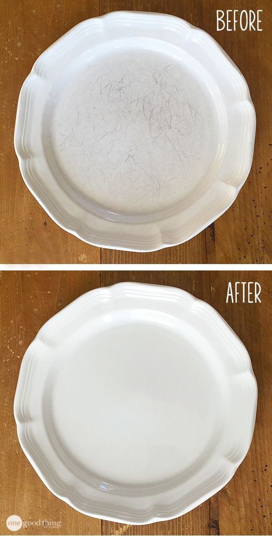 Beautiful dishes are within your reach! Buff out all those scuffs and scratches easily :-)