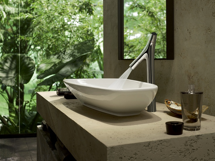Axor Starck Organic: The new faucet as High Riser.