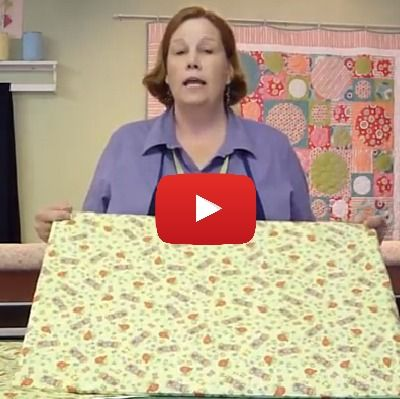 In this video tutorial, Missouri Quilt company demonstrates how to make a tabletop ironing board for pressing quilt blocks and small flat projects. -Sewtorial