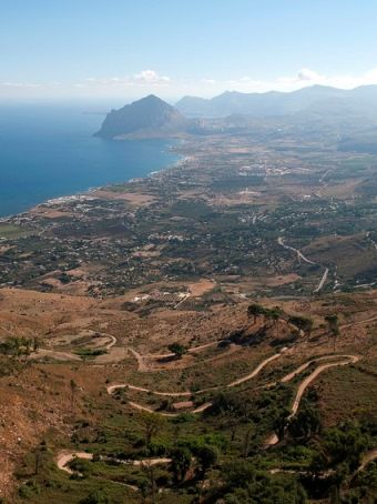 The magnificent view from Erice, Sicily.