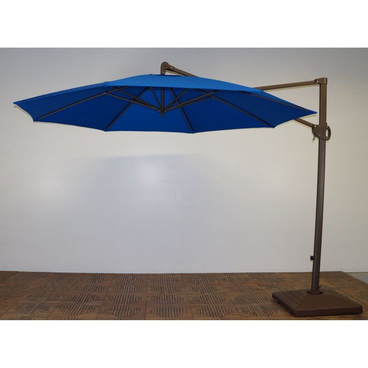 Shade Trends 11 ft. Trigger Lift Cantilever Offset Umbrella Pacific Blue - M952RB-102