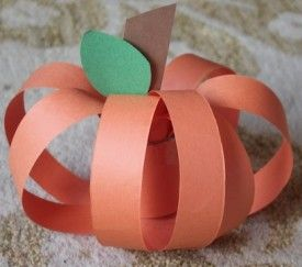 Paper Pumpkins This Arts Amp Craft Project Only Requires