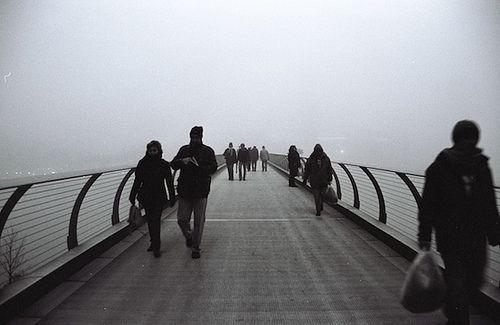 London Fog (The Millennium Bridge) - by Yu Fujiwara, 2008, via Flickr.  http://www.roehampton-online.com/About%20Us/Roehampton%20London.aspx?4231900