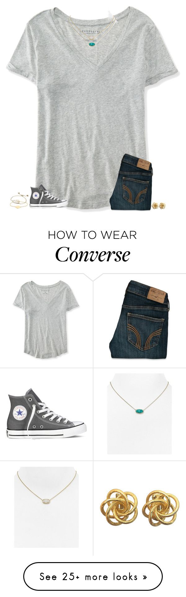 """""""cory's eyes are like the jungle he smiles it's like the radio"""" by secfashion13 on Polyvore featuring Aéropostale, Hollister Co., Kendra Scott, Converse, Monica Vinader, women's clothing, women, female, woman and misses"""