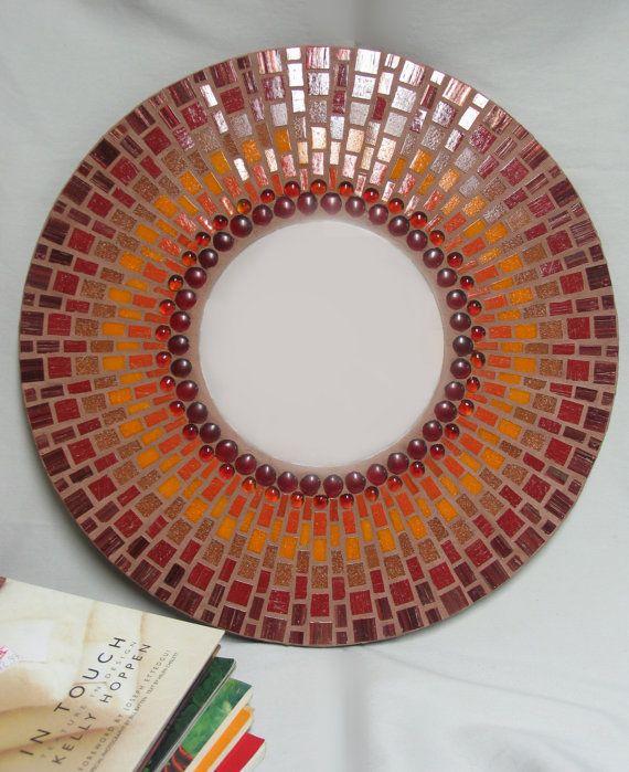 gorgeous mosaic mirror frame