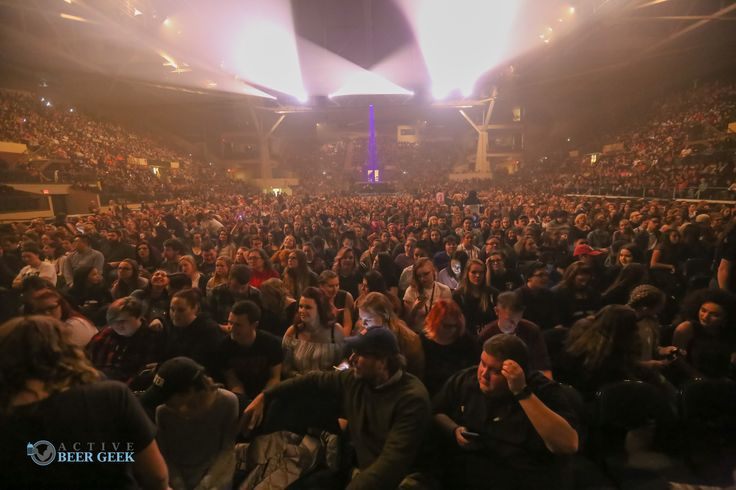 The crowd for Panic! At the Disco at Cross Insurance Arena in Portland, Maine.
